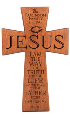 Personalized wall cross, wedding gift, Parent thank you Gift,I am the way the truth,Parent gift,anniversary gift,wall cross,Jesus wall cross