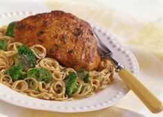 Baked Chicken with Pasta and Bacon
