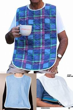 Sewing Clothes For Men Adult Bibs Pattern-Free - Bing images Baby Bibs Patterns, Sewing Patterns Free, Free Sewing, Sewing Tutorials, Sewing Ideas, Child Apron Pattern, Bib Pattern, Free Pattern, Sewing Aprons