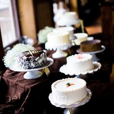 lots of cute small cakes instead of a traditional tiered wedding cake?