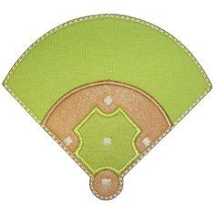 Baseball Diamond Applique