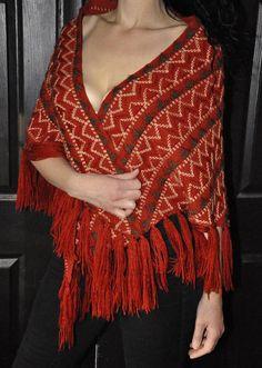 Items similar to Vintage Shawl /Wrap Magic Fall Gypsy Sabbats Fringe on Etsy Vintage Heels, Vintage Fur, Durango Boots, Fur Wrap, Sabbats, Metallic Blue, Blue Accents, 1970s, Gypsy