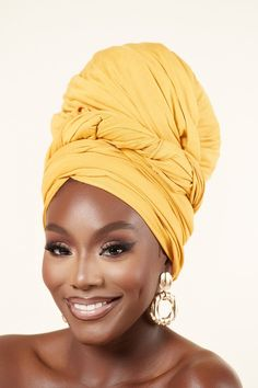 African Hair Wrap, African Wear, African Print Fashion, Fashion Prints, Hair Wrap Scarf, African Hairstyles, African Beauty, African Fabric, Brown Skin