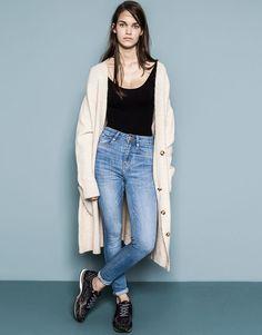 Pull&Bear - woman - jeans - basic high-waisted jeans - blue - 09685313-V2015