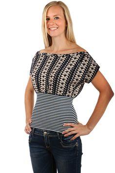 Dámské bavlněné elegantní tričko s pruhy a zúženým pasem 2782276e74