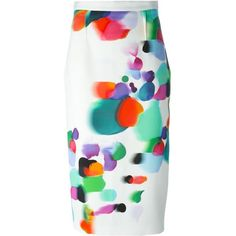 Roland Mouret Arreton Pencil Skirt ($896) ❤ liked on Polyvore featuring skirts, red, multicolor skirt, pencil skirt, red knee length pencil skirt, multi color skirt and red pencil skirt