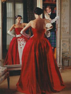 """""""The Great Pretender"""": Wallis Franken as Wallis Simpson, Duchess of Windsor, by Karl Lagerfeld for the New York Times Magazine September 1993 18th Century Costume, New York Times Magazine, Strapless Dress Formal, Formal Dresses, Red Gowns, Dress Robes, Famous Models, Ball Gowns, Glamour"""
