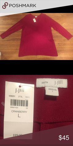 NEW WITH TAGS! CRANBERRY J JILL DRESS! SIZE L CRANBERRY J JILL DRESS, HEAVY WARM FABRIC, WOULD BE SUPER CUTE WITH LEGGINGS AND BOOTS! SIZE L, NEW WITH TAGS J. Jill Dresses Midi