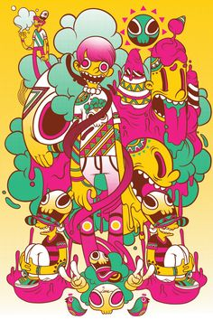 Various Illustrations by Raul Urias, via Behance