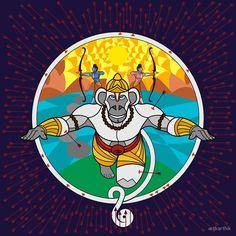 Hanuman goes to War 2 by artkarthik Ram Hanuman, Hanuman Lord, Lord Shiva, Hanuman Ji Wallpapers, Art Beat, Krishna Painting, Monkey King, Hindu Art, Ancient Art