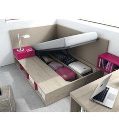 La cama bañera elevable nos ofrece espacio extra de almacenaje. Variedad en medidas y de colores. http://www.aristamobiliario.es/cabeceros-y-camas-juveniles/1306-cama-banera-elevable-qb-berlin-tegar-mobel.html
