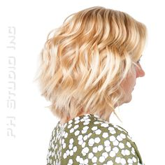 The perfect Bob Haircut. Go messy chic, add some of texture to create movement.  Color, Haircut/ Style: Kristina Puckorius  Products: Aquage Sea Extend Silkening Oil, Working Thermal Spray & Volumizing Fix Hairspray.