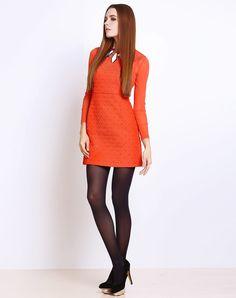 季候风SEASON WIND橙色长袖连衣裙8993LA139OR2_唯品会