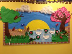 pond bulletin board ideas | board. This was so much fun to put together as I found more pond ...