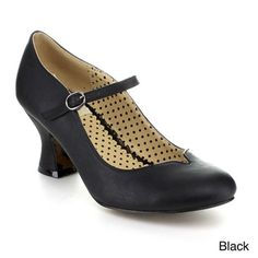 Bettie Page Women's 'BP253-Lindsey' Basic Heel Mary Jane Pump | Overstock.com Shopping - The Best Deals on Heels
