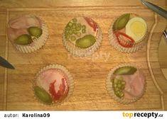 Vrstvený aspik recept - TopRecepty.cz Muffin, Eggs, Cooking, Breakfast, Food, Kitchen, Morning Coffee, Essen, Muffins