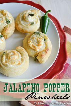 A great game day or holiday appetizer! Jalapeno Popper Pinwheels Recipe