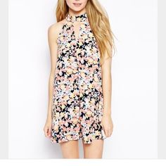 ASOS floral mini dress; perfect for spring/summer This ASOS dress has only been worn once and is very fun and flirty!! It's in perfect condition is great for special events during the spring and summer. ASOS Dresses Mini