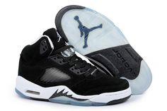 Air Jordan 5 Black White Shoes