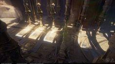 ArtStation - Mystical Desert Temple, Kevin Whitmeyer