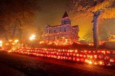 "THE Pumpkin House...Rick Griffith's house...Kenova, West Virginia...a heritage that Kenova is proud of!!! I love Fall & anything ""Pumpkin""!"