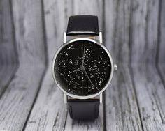 Vintage Constellation Watch  Northern Hemisphere  Leather