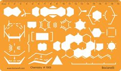 Chemistry Chemical Engineering Science Laboratory Lab Equipment Symbols Drawing Template Stencil