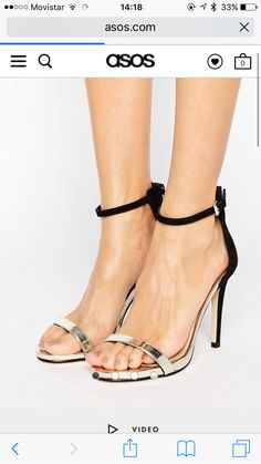 525aa8c6b9e Miss Selfridge 2 Tone Barely There Heeled Sandal - Black. SandalesBottes TalonsChaussures ...
