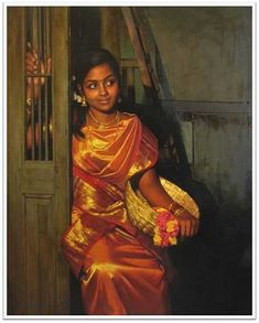 tamil people - Google Search Indian Women Painting, Indian Art Paintings, Indian Artist, Classic Paintings, Beautiful Paintings, Oil Paintings, Painting Portraits, Awesome Paintings, Acrylic Paintings
