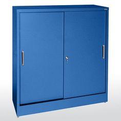 Sandusky Sliding 2 Door Storage Cabinet Color: Navy Blue