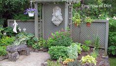 Backyard Privacy Structure via Empress of Dirt