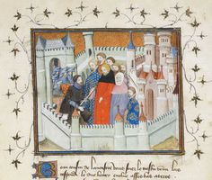 This image shows John Holland standing beside King Richard II, disguised as a priest to evade Henry of Bolingbroke.