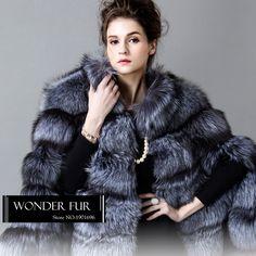 SAGA Natural Silver Fox Fur Poncho Full Pelt Fox Fur Cloak Female Plump Silver Fox Fur Cape Wild Style Thick Animal Fur Cloke