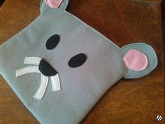 MOLLIE MOUSE 'Feltsidermy' small clutch bag tablet/ipad bag, vegan. https://www.etsy.com/listing/214651183/mollie-mouse-feltsidermy-small-clutch?utm_source=etsyfu&utm_medium=api&utm_campaign=api… #Etsy #Felt