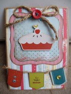 Cute for the front of my recipe books. Homemade Recipe Books, Homemade Cards, Scrapbook Page Layouts, Scrapbook Pages, Scrapbook Photos, Scrapbooking Ideas, Scrapbook Recipe Book, Beautiful Handmade Cards, Recipe Cards