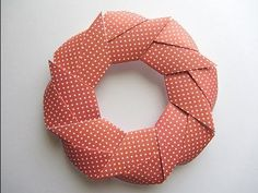 Origami Modular Holiday Wreath Folding Instructions