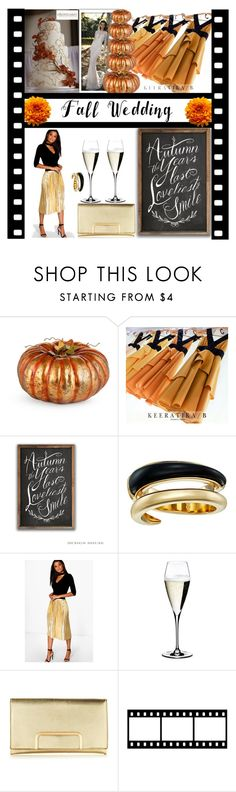 """Fall in love with Weddings"" by mistylake ❤ liked on Polyvore featuring Improvements, Michael Kors, Boohoo, Riedel, love, autumn, ido and fallwedding"