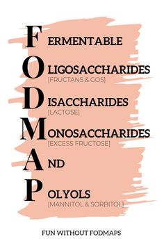 What is a FODMAP? Find out and grab some easy low FODMAP recipes at funwithoutfodmaps. Fodmap Recipes, Diet Recipes, Ibs Fodmap, High Fodmap Foods, Ibs Diet, Metabolic Diet, Thyroid Diet, Irritable Bowel Syndrome, Diets