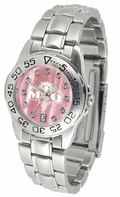 Morehead State University Ladies Pink Designer Dress Watch by SunTime. $72.95. Links Make Watch Adjustable. Officially Licensed Morehead State Eagles Ladies Pink Designer Dress Watch. Women. Scratch Resistant Crystal - Calendar Function With Rotating Bezel. Stainless Steel-Mother Of Pearl Dial. Morehead State Eagles ladies watch. College women's pink stainless steel dress watch with mother of pearl and Swarovski crystals. Date calendar function plus a rotating ...