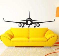 $21.99 Aviation-Big-Airplane-Wall-Decal-Decor-Art-Sticker-Vinyl-Mural