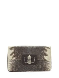 want!!! MARCHESA Large Phoebe Ring Lizard Clutch