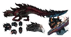 Monster Hunter X Concept art of the Flagship monsters, Beruna Village, Various NPCs and Palicoes, Equipment, and the new area now known as Ancient Forest (古代森)! #MHXForTheWest