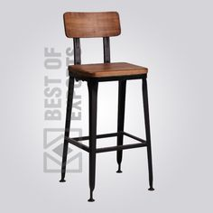 Product Details: Product Code: BE-I-BS-017 Material: MS steel & Reclaimed Wood Dimension: 45x45x113 H.C.M. C.B.M: 0.22