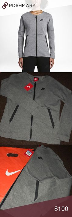 🆕 Nike Womens Tech Sport Sweater Jacket Size M BRAND NEW! Looks very sporty! Tags still on. Make an offer!!! Size Medium  Ships next postal day!  ______________________________ —————————————  Looking for Nike gear at a great price? Look no further! I will hunt down what you're looking for, bundle it up, and give you a great price! Comment on any of my listings to reach out! Nike gear includes: socks, headbands, shirts, tanks, equipment, hats, bags, pants, shorts, and shoes! Nike Sweaters