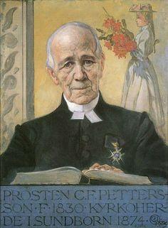 "1905 ~ ""Pastor C.F. Petterson in Sundborn"" by Carl Larsson ....."
