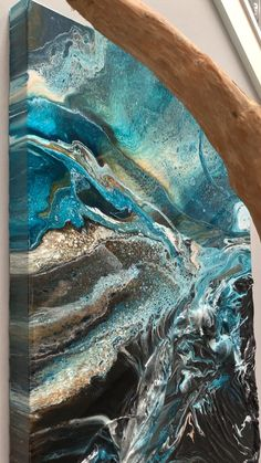 Octavia Abstract Resin Landscape Close Up Video Of This Mixed Media Acrylic And Resin Painting Resinart Resinartist Resin Art Ontarioartist Canadianart Londonontario Ldnont Modernart Contemporaryart Pour Painting, Painting Videos, Painting Techniques, Acrylic Pouring Techniques, Painting Art, Acrylic Pouring Art, Acrylic Art, Resin Artwork, Resin Paintings