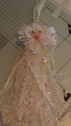 Shabby chic large scrap lace tassel tutorial