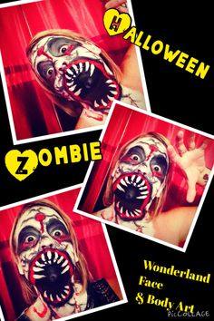 Zombie face paint halloween