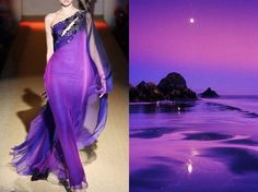 Amethyst gown inspired by nature