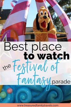 Looking for the best place to sit during Disney World's Festival of Fantasy parade route? Read here for tips on where to enjoy Disney's Magic Kingdom afternoon parade. Disney Vacation Club, Walt Disney World Vacations, Disney Travel, Disney Parks, Orlando Disney, Florida Vacation, Family Vacations, Cruise Vacation, Disney Cruise